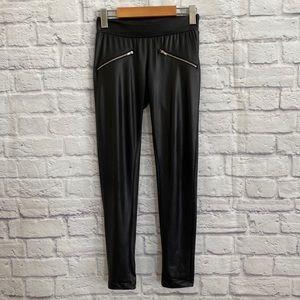 3/$30🦋 NOISY MAY Black Faux Leather Look Leggings